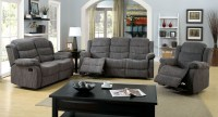 Millville Gray Chenille Reclining Living Room Set from ...