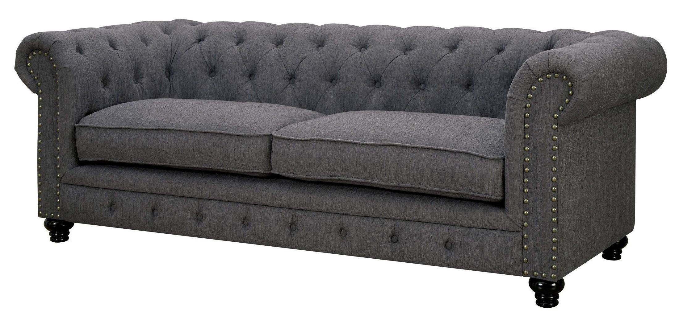Stanford Gray Fabric Sofa from Furniture of America