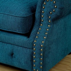Dark Teal Sofa Sectional Sofas New Jersey Stanford Fabric From Furniture Of America