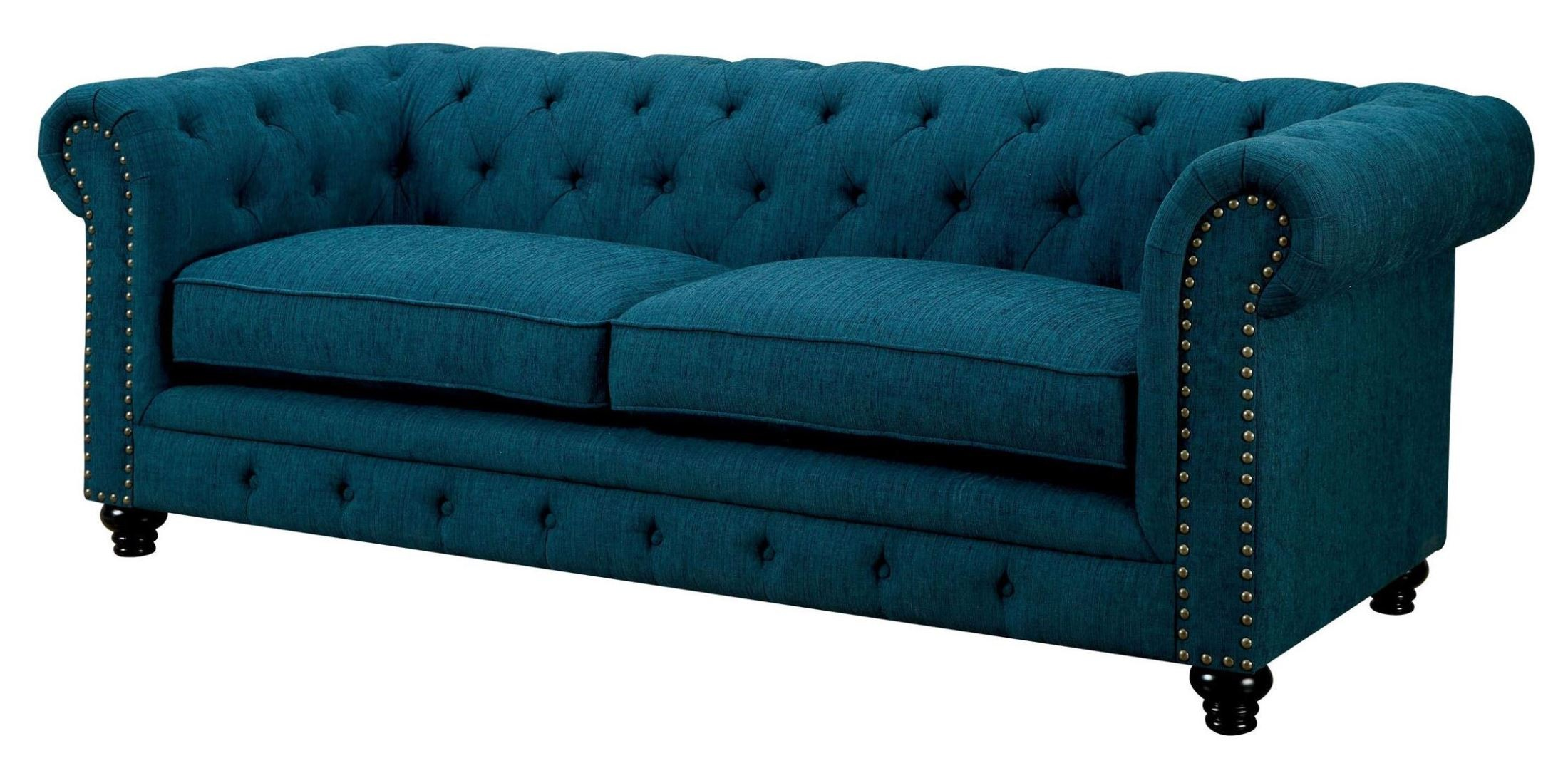cheap teal sofas black decorating living room ideas stanford dark fabric sofa from furniture of america