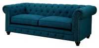 Stanford Dark Teal Fabric Sofa from Furniture of America