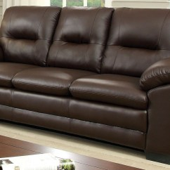 Leatherette Sofa Bed At Costco Parma Brown From Furniture Of America