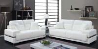 Zibak White Living Room Set from Furniture of America ...