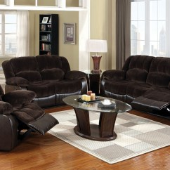 Recliner Sofa Set 3 2 1 Top Grain Leather Sectional Winslow Rustic Brown Reclining Living Room From