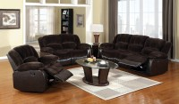 Winslow Rustic Brown Reclining Living Room Set from ...