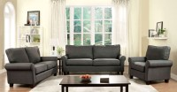 Hensel Gray Flax Fabric Living Room Set from Furniture of ...