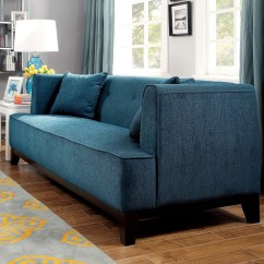 Cheap Teal Sofas Flowered Sofia Dark Living Room Set From Furniture Of America