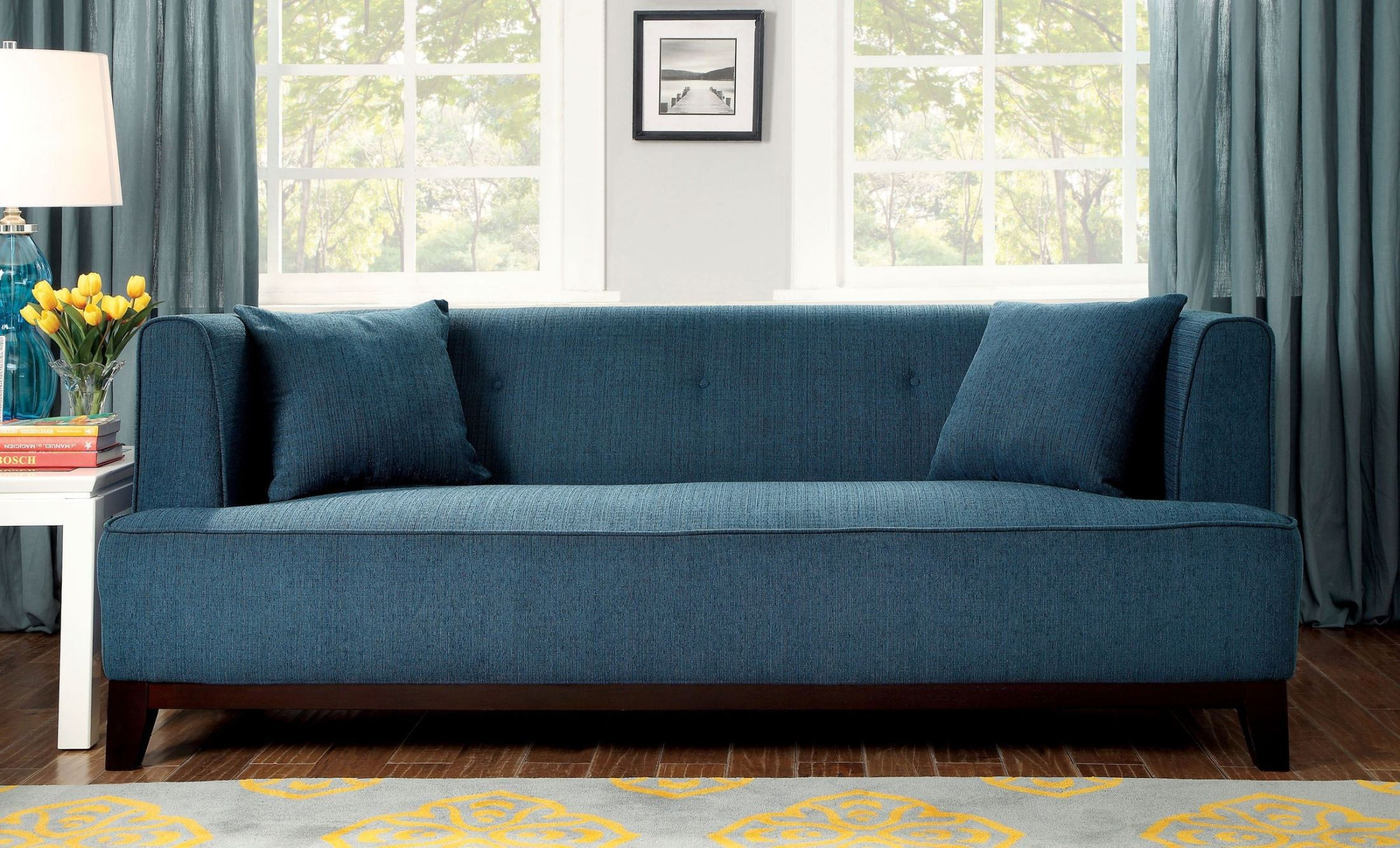 modern gray sofa set coffee table for side of sofia dark teal from furniture america (cm6761tl ...