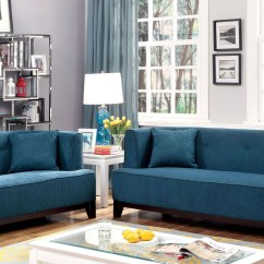 Cheap Teal Sofas Olx In Wooden Sofa Set Delhi Today Sofia Dark Living Room From Furniture Of America