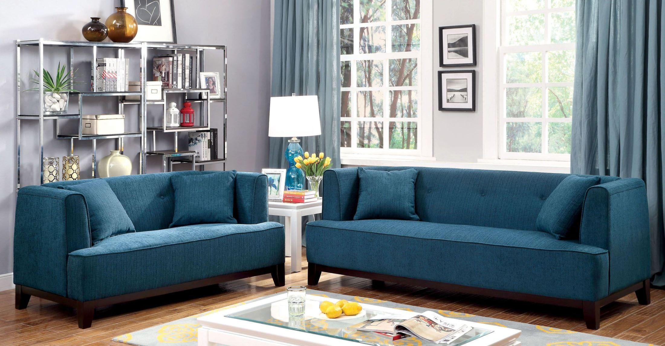 dark teal chair how much are covers and sashes sofia sofa from furniture of america cm6761tl
