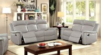 Salome Light Gray Recliner Living Room Set from Furniture ...