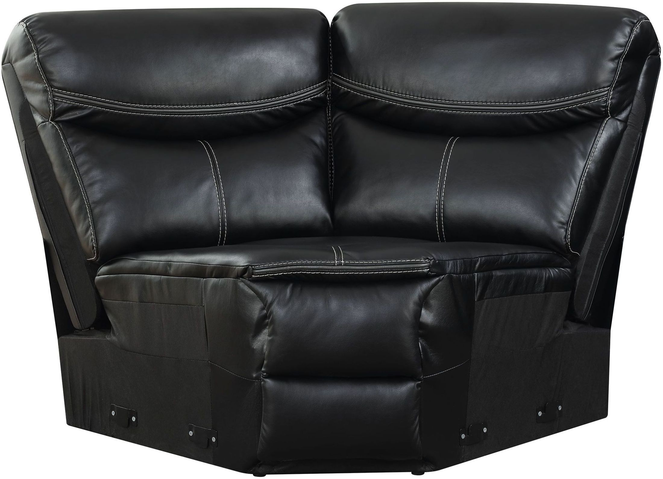 black reclining sofa with console how to replace cushions foam gatria ii sectional from