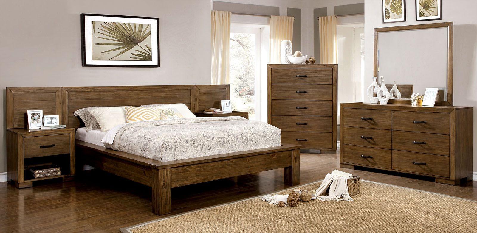 Bairro Reclaimed Pine Wood Bedroom Set from Furniture of