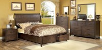 Ribeira Dark Walnut Storage Bedroom Set, CM7252Q ...