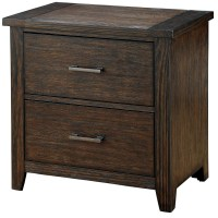 Ribeira Dark Walnut Nightstand, CM7252N, Furniture of America
