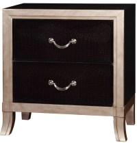 Liza Silver Nightstand from Furniture of America | Coleman ...