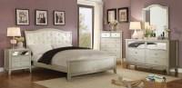 Adeline Silver Upholstered Platform Bedroom Set, CM7282Q ...