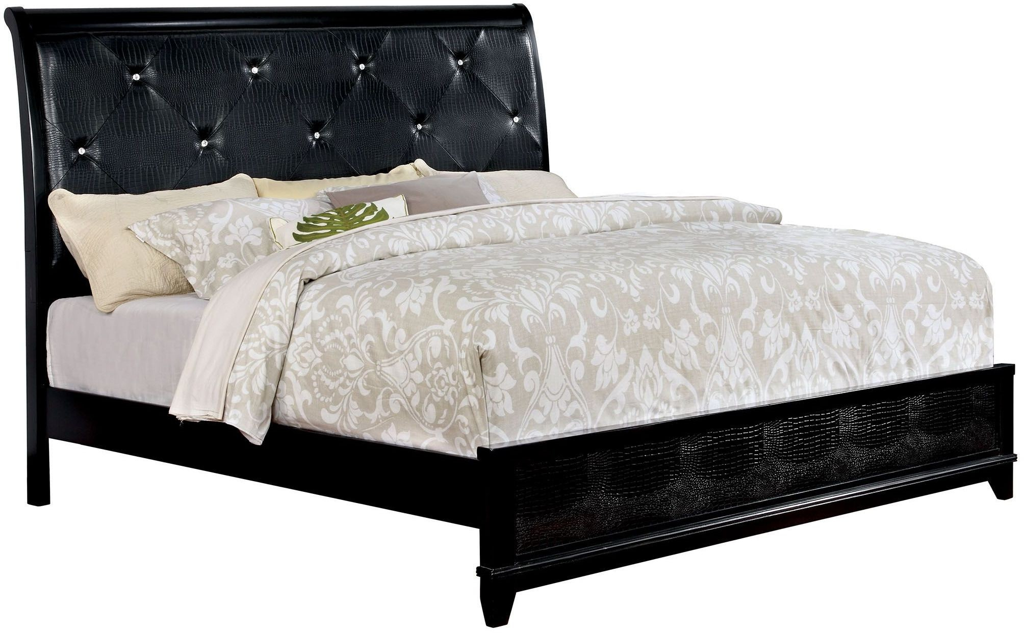 Bryant Ii Black Cal King Upholstered Platform Bed From