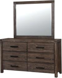Rexburg Dark Gray Panel Bedroom Set, CM7382Q, Furniture of ...