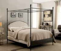 Sinead Gunmetal Queen Canopy Bed, CM7420Q-SET, Furniture ...