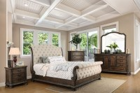 Lysandra Rustic Natural Tone Sleigh Bedroom Set from ...