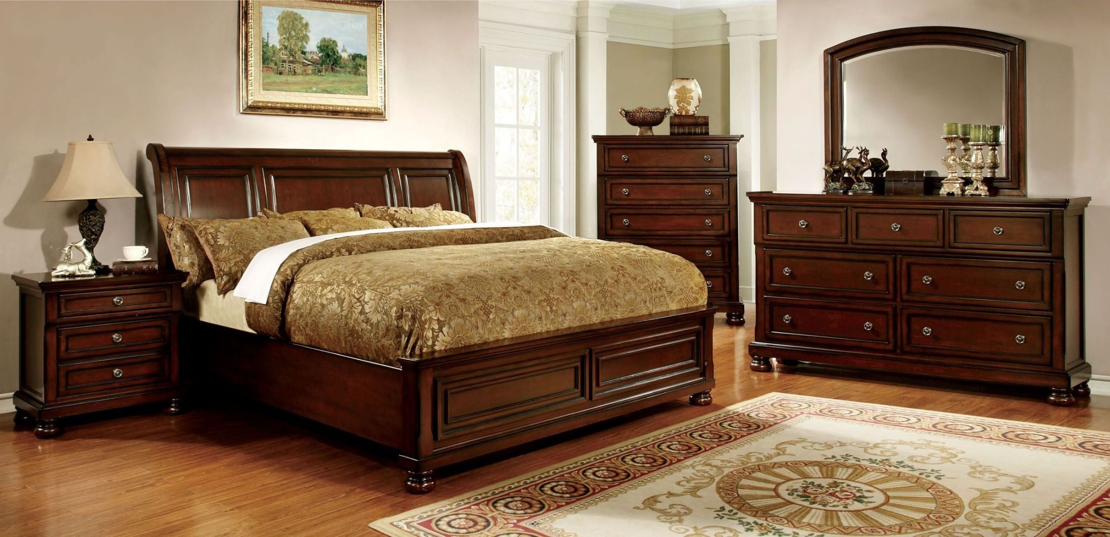 Northville Dark Cherry Bedroom Set from Furniture of