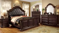 Esperia Brown Cherry Bedroom Set from Furniture of America ...