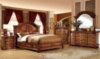 Bellagrand Antique Tobacco Oak Bedroom Set from Furniture ...