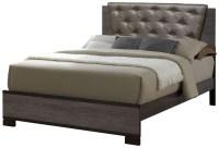 Manvel Dark Gray Upholstered Bedroom Set, CM7867Q ...