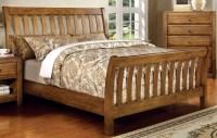 Conrad Rustic Oak Sleigh Bedroom Set from Furniture of ...