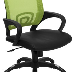 Green Computer Chair Karlstad Slipcover Mid Back With Black Seat Cp B176a01