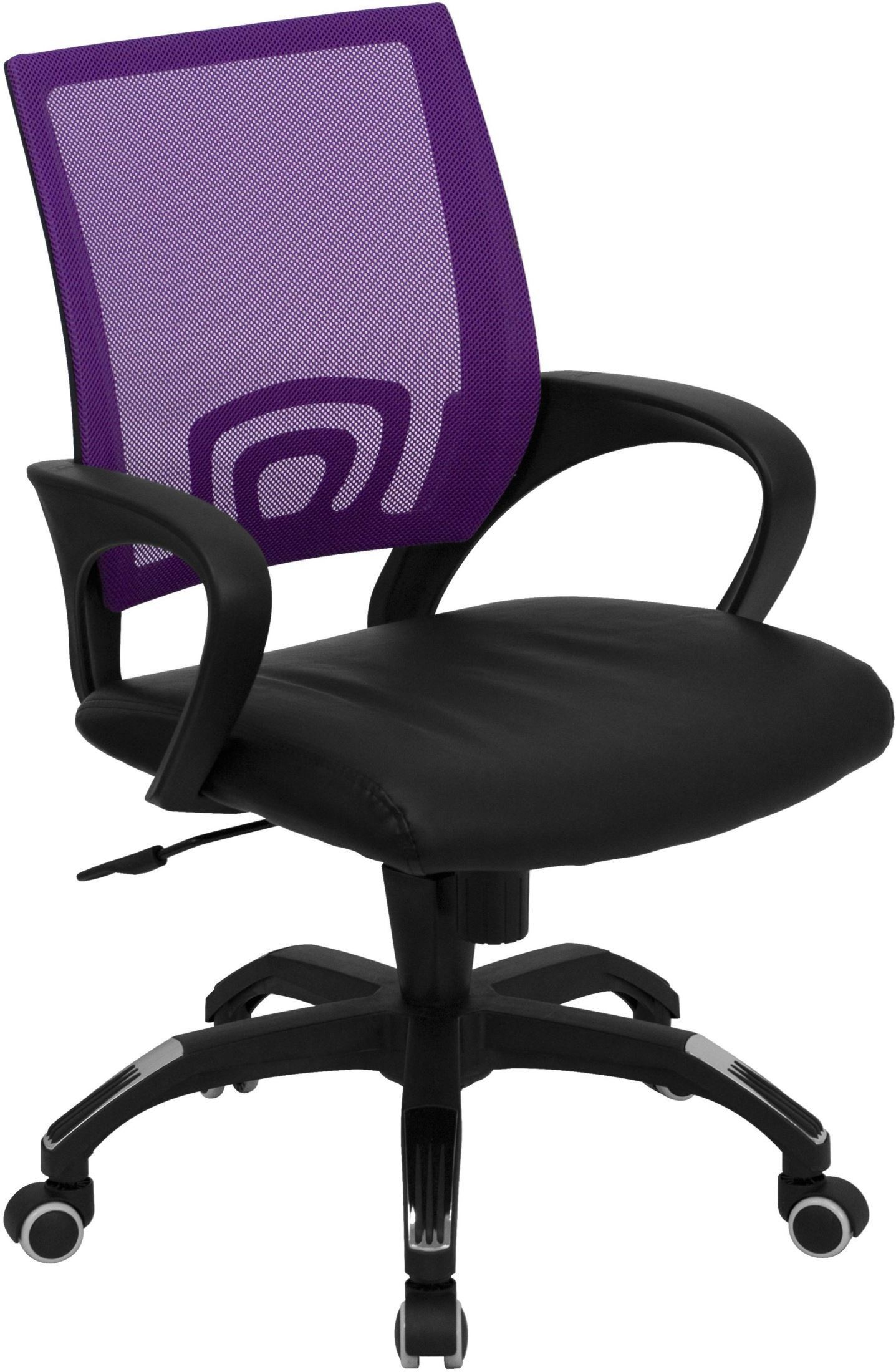 purple swivel chair movie bean bag mid back computer with black seat min order