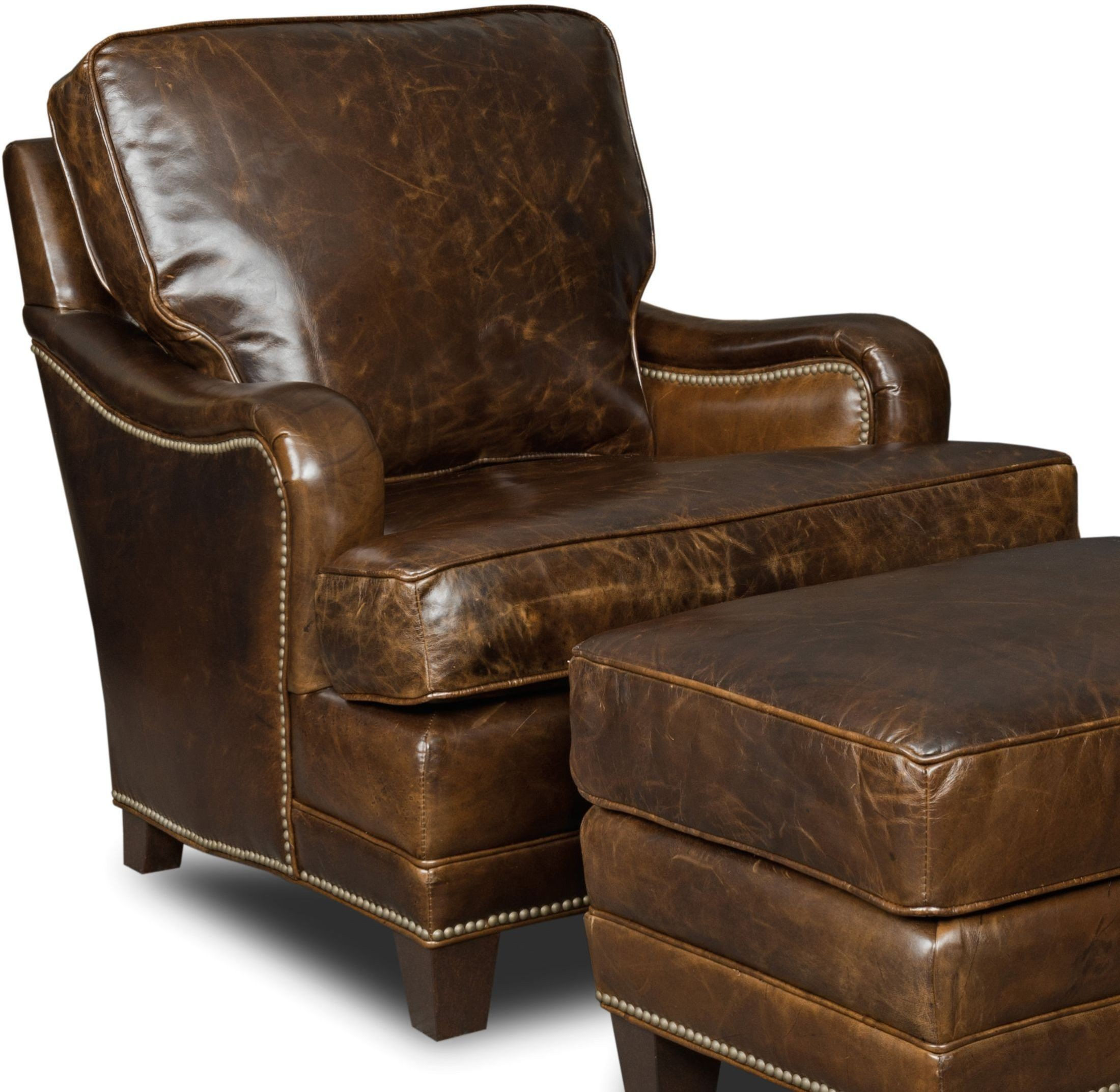 Club Chair Leather Colton Brown Leather Club Chair From Hooker Coleman
