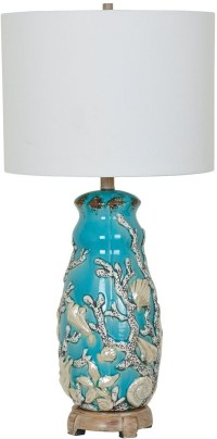 Reef Blue and Brown Table Lamp from Crestview | Coleman ...