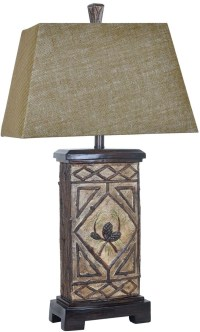 Pinecone Black Table Lamp from Crestview | Coleman Furniture