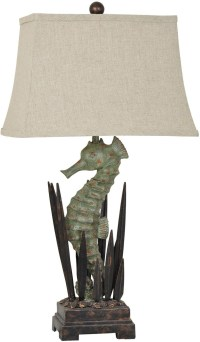 Seahorse Brown and Green Table Lamp from Crestview ...