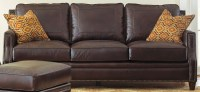 Caldwell Leather Sofa with 2 Accent Pillows from Steve ...
