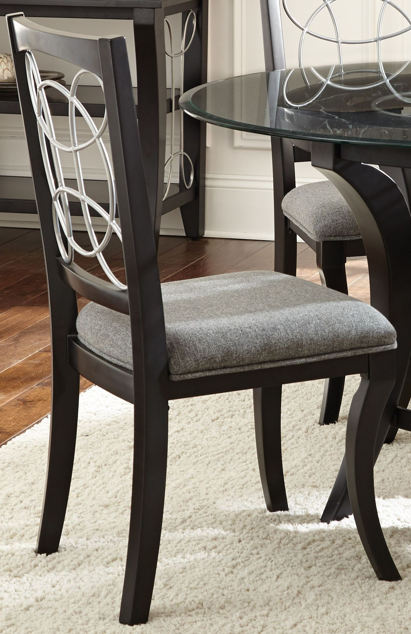 Grey Side Chair Cayman Grey Fabric Side Chair Set Of 2 From Steve Silver