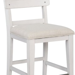 Upholstered Counter Height Chairs Ergonomic Chair Bahrain Bellville White Set Of 2 From