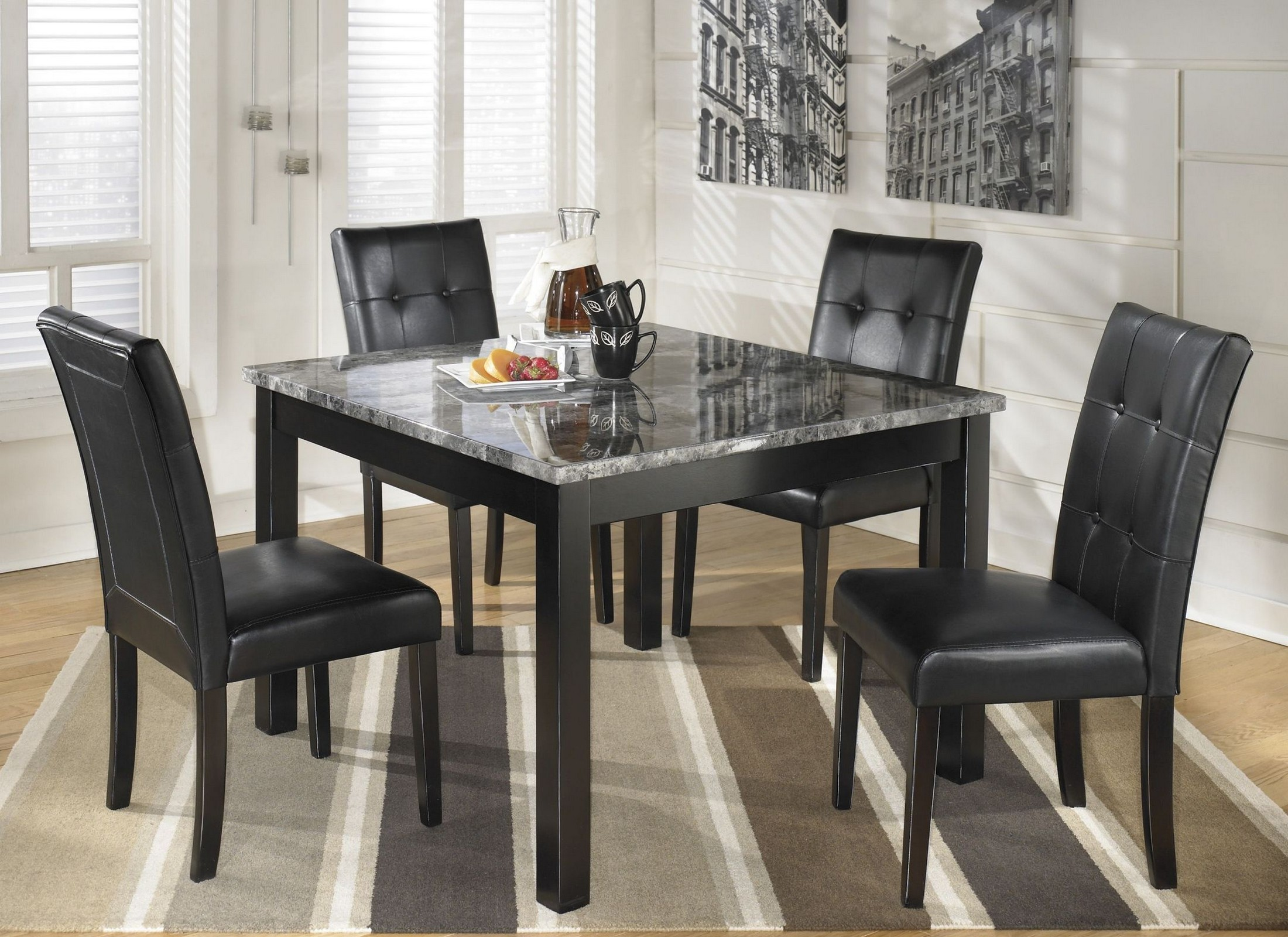 Maysville Set Of 5 Square Counter Table Set From Ashley