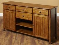 Overland Distressed Oak 4 Drawer Sideboard from Largo ...