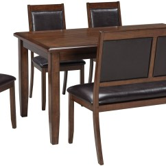 6 Chair Dining Set Limewash Chiavari Chairs Wedding Meredy Brown Piece Room From Ashley Coleman