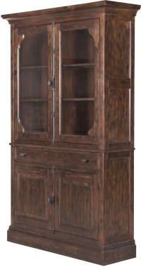 St.Claire Rustic Pine Curio China Cabinet from Magnussen ...