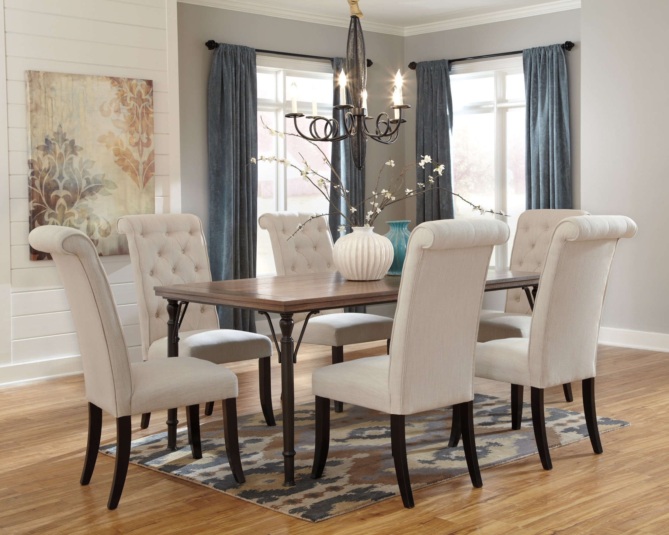 Ashley Dining Room Chairs Tripton Rectangular Dining Room Set From Ashley D530 25
