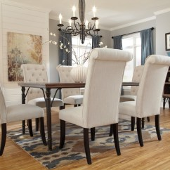 2 Chair Dining Set Ab Cruncher Tripton Upholstered Side Of From Ashley