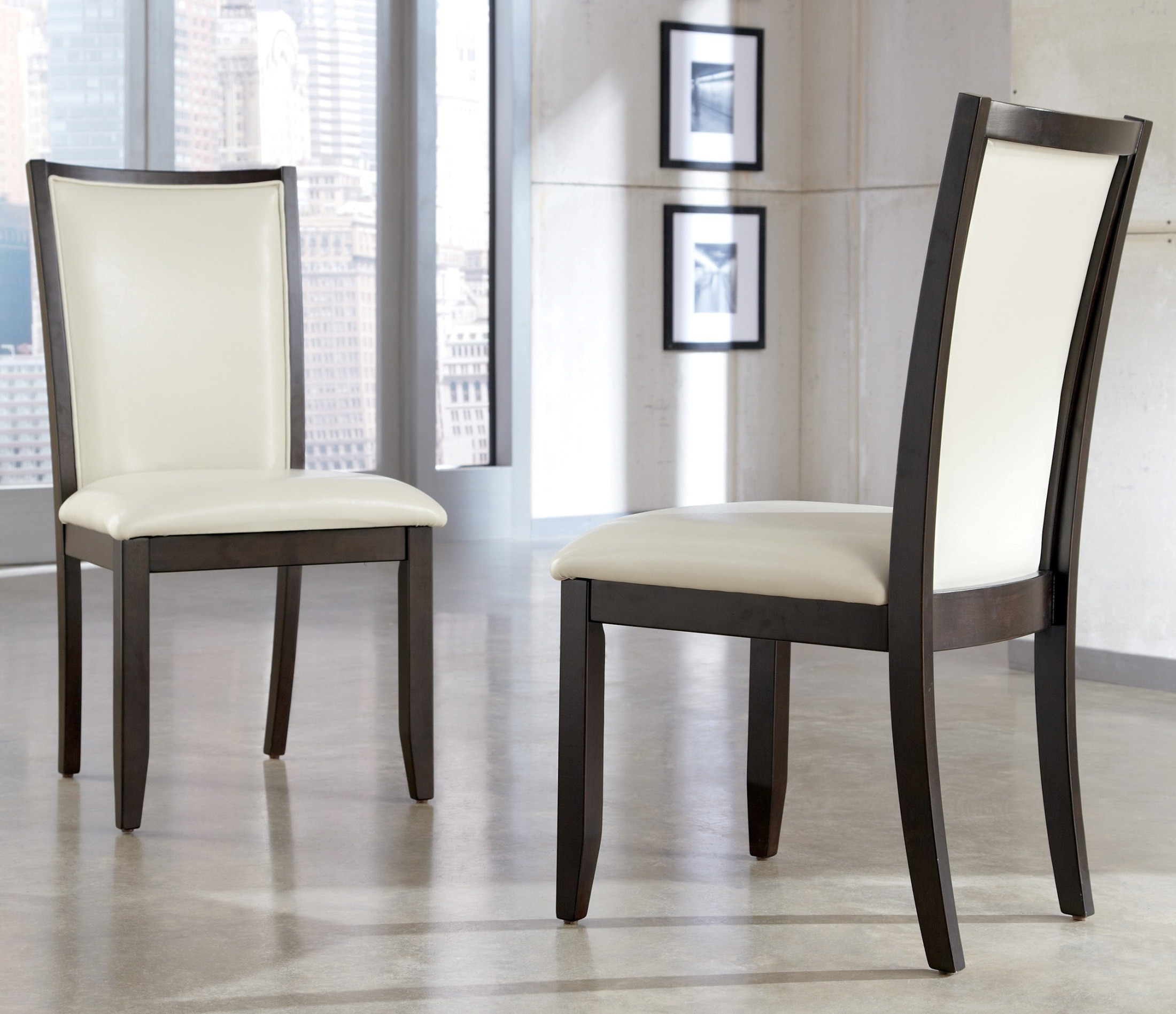 dining accent chairs otter bath chair trishelle upholstered cream side set of 2