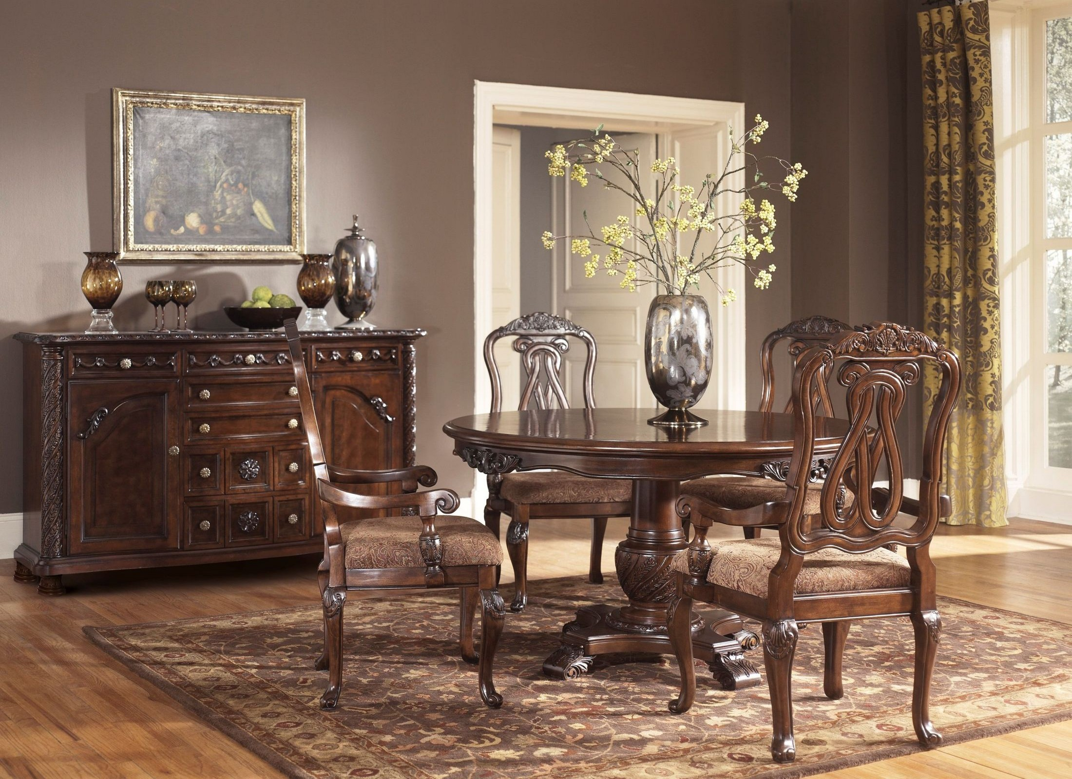 North Shore Round Pedestal Dining Room Set from Ashley  Coleman Furniture