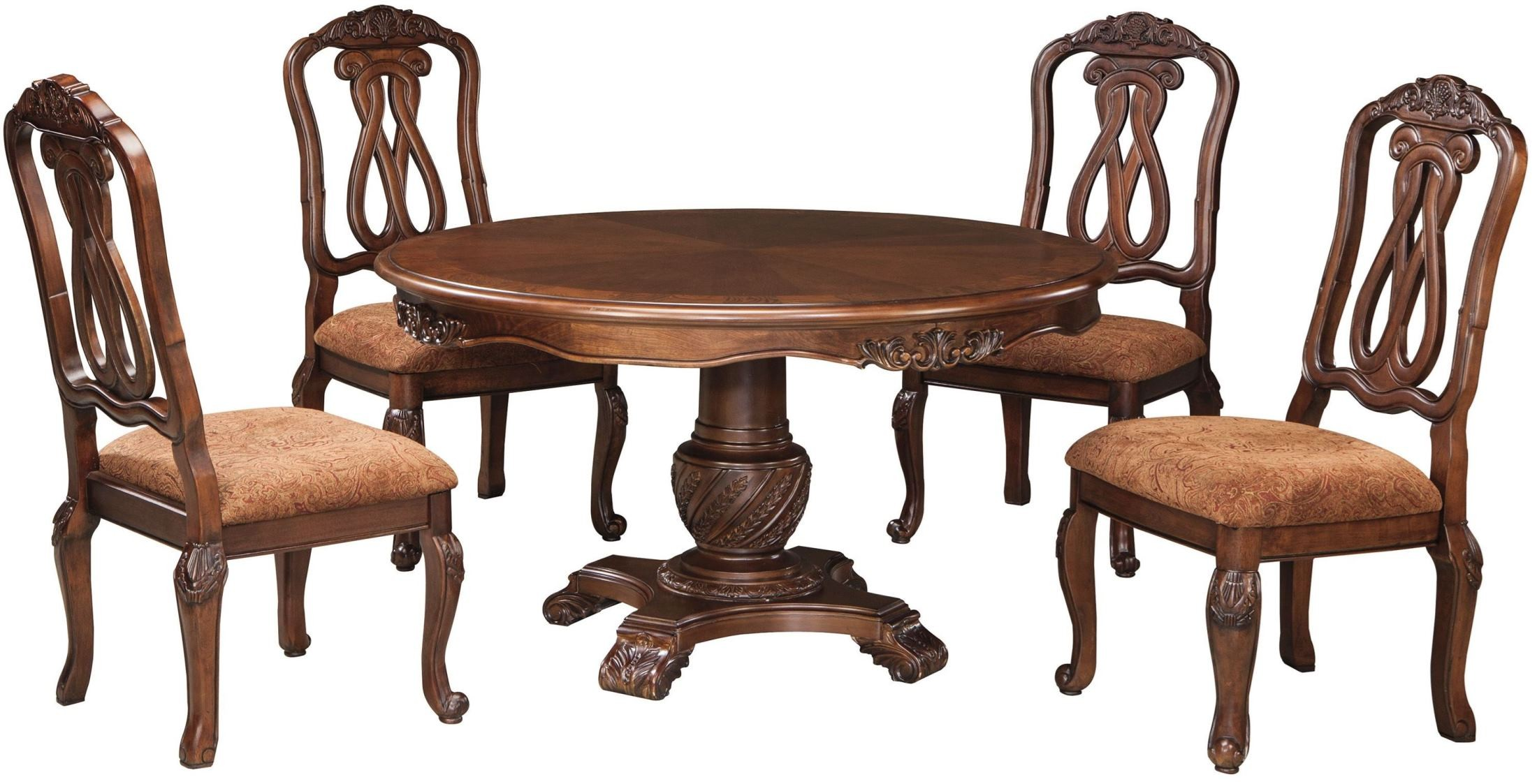 Round Dining Table And Chairs North Shore Round Pedestal Dining Room Set From Ashley