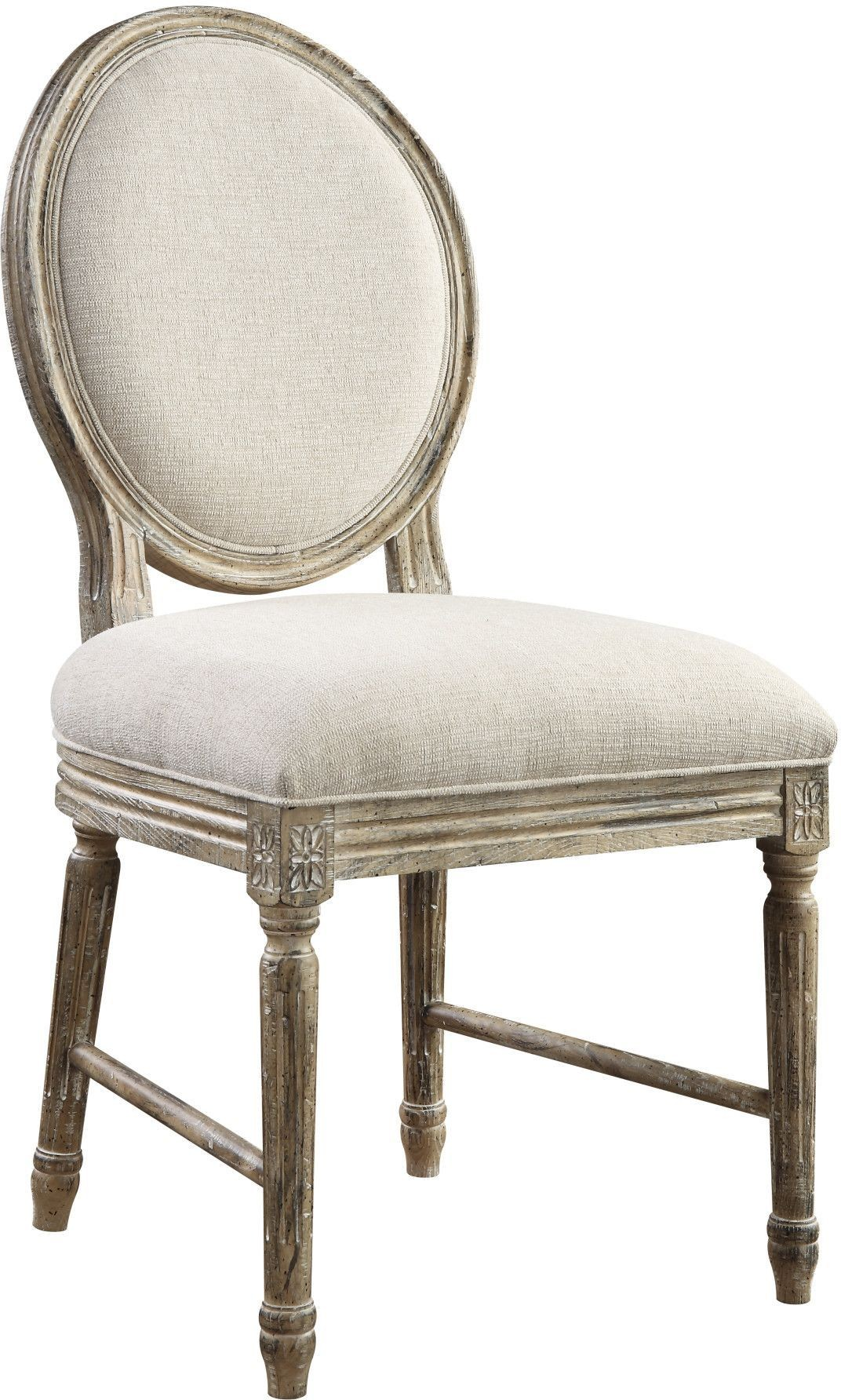 white linen chair black leather dining room chairs interlude upholstered side set of 2 from