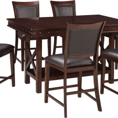 Bar Stool Chair Extenders Aluminum Chairs For Sale Collenburg Brown Extendable Counter Height Dining Room Set